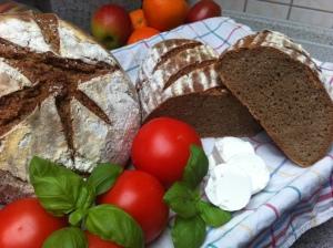 Brot, Sauerteig, selbst, backen, Roggen, Gärkorb, Gärkörbchen