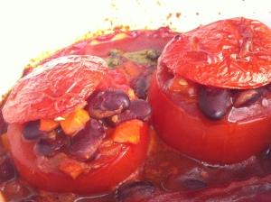 Nigel Slater, Küchentagebuch, Tomaten, Bohnen, gebacken, vegan