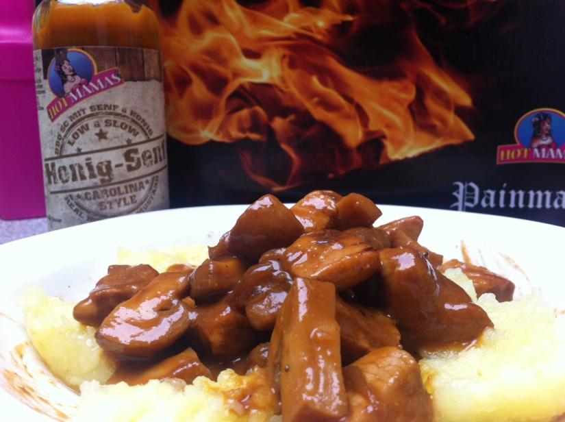 Kochen mit Hot Danas und ein Saucen-Paketgewinnen
